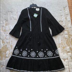 Black ikat style Kate Spade dress, size 12